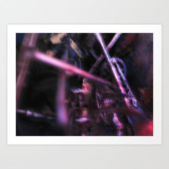 Glitch Space 6 Art Print