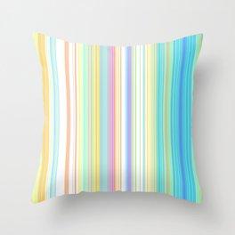 Pastel Rainbow Vertical Stripes Throw Pillow
