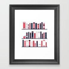 Shelves of Books Stylized Framed Art Print