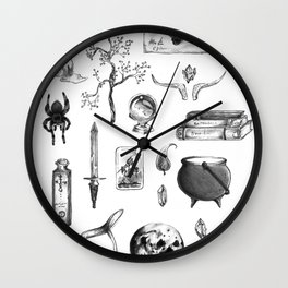 Witchy Habits Wall Clock