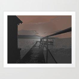 Lake Jetty Art Print