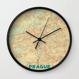 Prague Map Retro Wall Clock