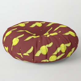 Brown Golden snitch Floor Pillow