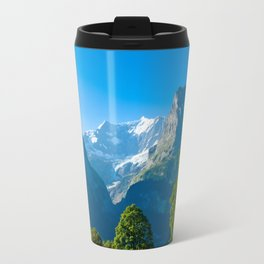 Mountain landscape in Swiss Alps Travel Mug