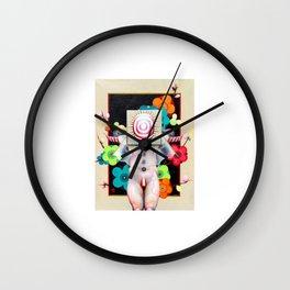 Black Bird White Worm Wall Clock