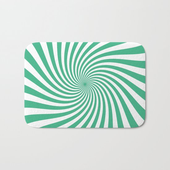 Swirl (Mint/White) Bath Mat