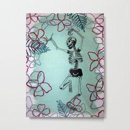 Dancing Bones Metal Print