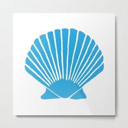 Blue Seashell Metal Print
