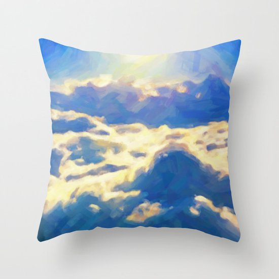 Over The Clouds - Painting Style Throw Pillow