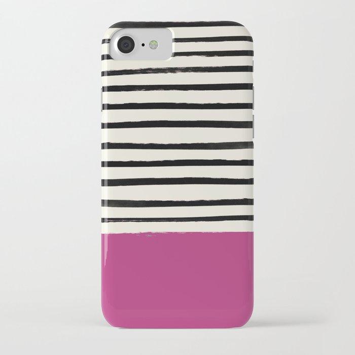 Raspberry x Stripes iPhone Case