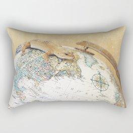 Globe-Trotting Gecko Rectangular Pillow