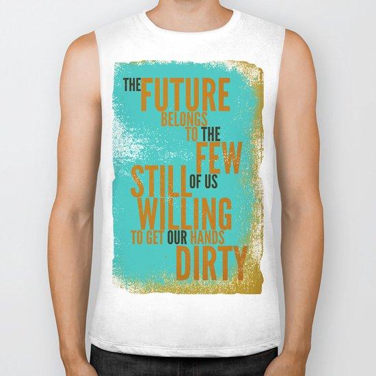 The Future Belongs to You Biker Tank