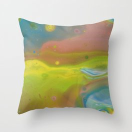 Pastel Rainbow Throw Pillow