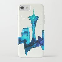 seattle iPhone & iPod Cases featuring Seattle  by Talula Christian