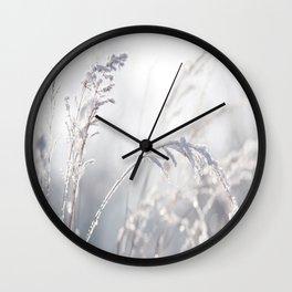 winter Pastel Wall Clock
