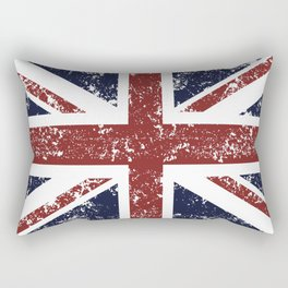 Old scratched United Kingdom flag Rectangular Pillow