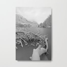 Wintry Lake Bohinj Metal Print