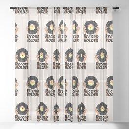 Record Holder Vinyl Sheer Curtain