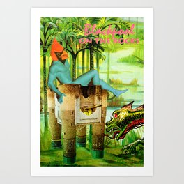 Vote for Donkey and Elephant! Now! Art Print