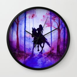 Horse and Rider Purple Edition Wall Clock