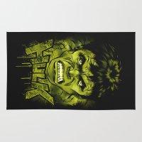 hulk Area & Throw Rugs featuring HULK by dan elijah g. fajardo