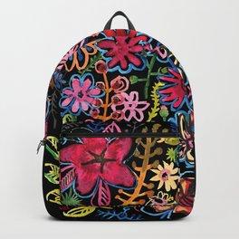 Meadow on black Backpack