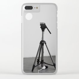 GIF projector installation view Clear iPhone Case