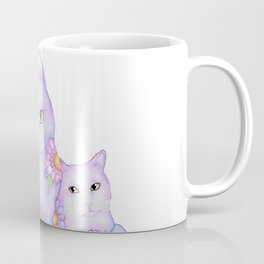 Bart and Clay - A Portrait of Two Cats  Coffee Mug