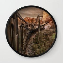Evening Train Wall Clock