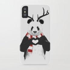 Xmas panda iPhone X Slim Case