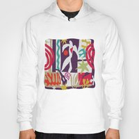 matisse Hoodies featuring inspired to Matisse t-shirt (violet) by Chicca Besso