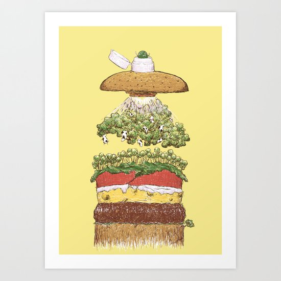 It's Burger Time! Art Print