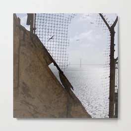 View of the Golden Gate Bridge from Alcatraz Metal Print