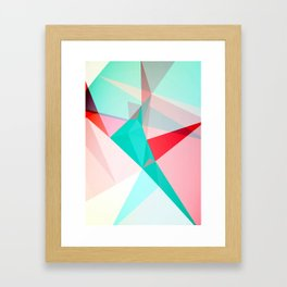 FRACTION - Abstract Graphic Iphone Case Framed Art Print
