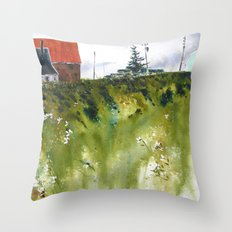 houses at the Cap Throw Pillow