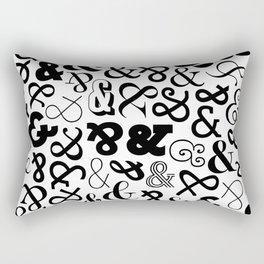 Ampersands on Ampersands Rectangular Pillow