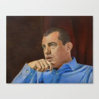 andreas preis Canvas Prints featuring Andreas Antonopoulos by The Colors of Bitcoin: Bitcoin Art