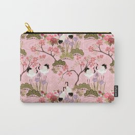 Japanese Garden in Pink Carry-All Pouch
