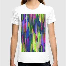 Colorful digital art splashing G256 T-shirt