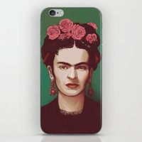 frida iPhone & iPod Skins featuring Frida by ravynka