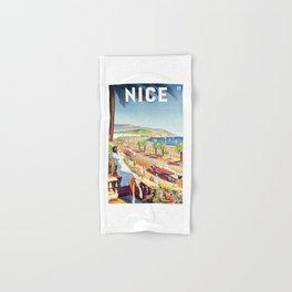 1935 Nice France Travel Poster Hand & Bath Towel