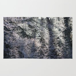 Frosty forest Rug