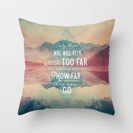 Adventure&Mountain Throw Pillow
