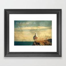 Oh I do like to be beside the seaside Framed Art Print