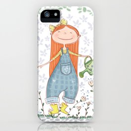 Gardening Girl iPhone Case