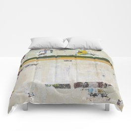 Chariot White Abstract Modern Painting Art Comforters