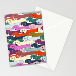 colored doggie pattern Stationery Cards