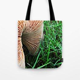 Mushroom and Dewdrops Tote Bag