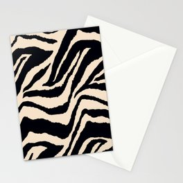 Zebra Animal Print Black and off White Pattern Stationery Cards