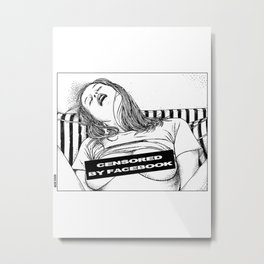 asc 330 - La méridienne II (The siesta) Censored by Facebook Metal Print